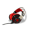 AUDIFONOS GAMING EAGLE WARRIOR MIC RAVEN 7.1 NEG/ROJO